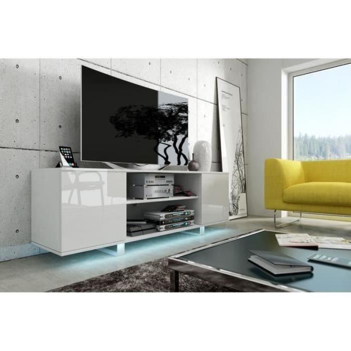 Meuble Tv Blanc Hauteur 60 Cm Blog De Conception De Maison