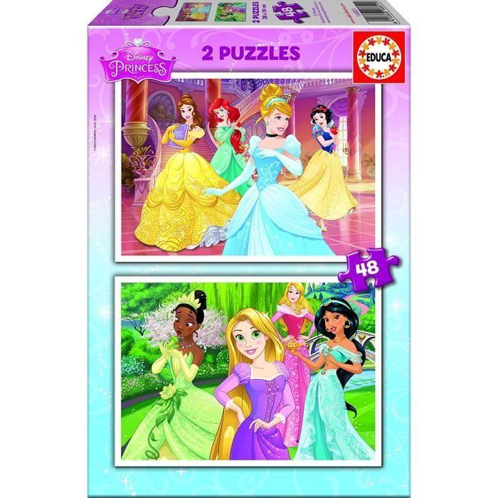 PUZZLE EDUCA - Puzzle DISNEY PRINCESSES 2x48 pcs