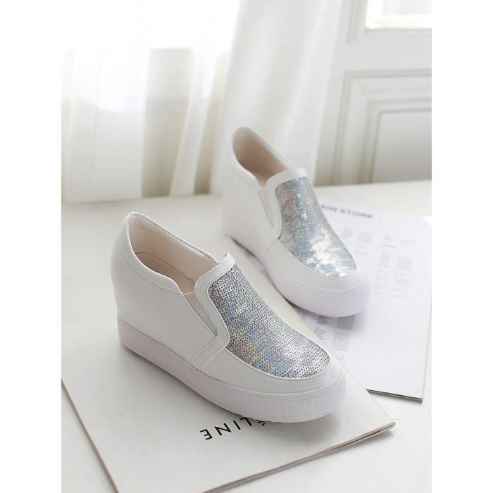 chaussures de skate-Pur Toe Rond Couleur des fe...
