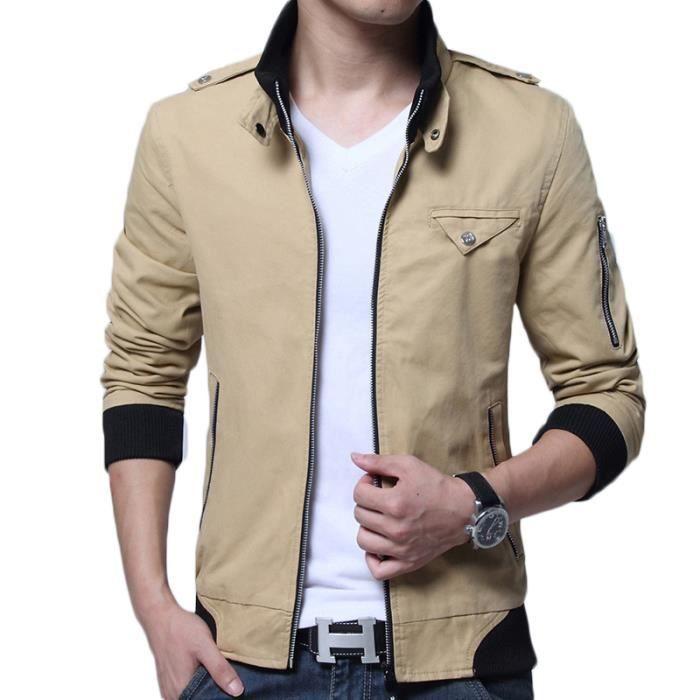 exclusive range hot sale lowest price veste matelasse homme col mao de a la mode Vêtement Masculin Poche zippée  sur la manche