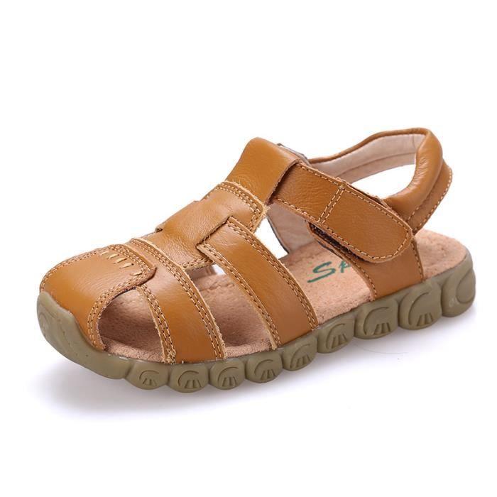 Chaussures de plage en cuir pour enfants 2017 new boy sandals