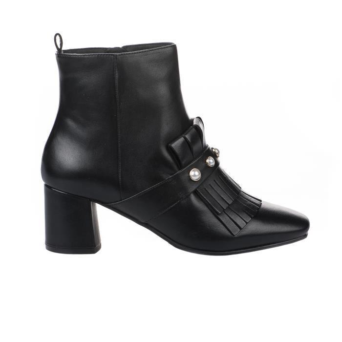 Boots femme - ELVIO ZANON - Noir - G4803P ELZTOFNERO - Millim