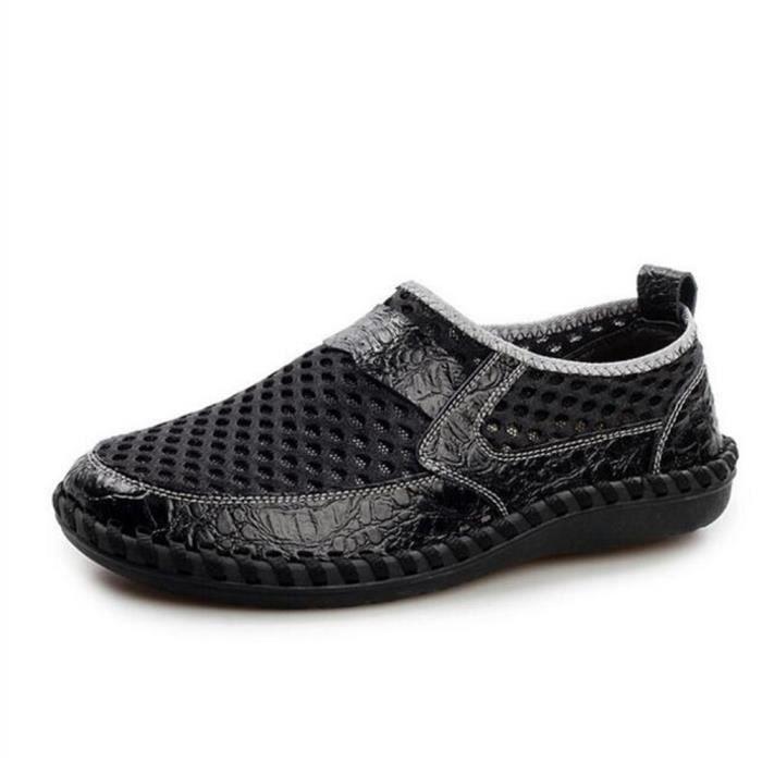 chaussures homme Cuir véritable Travail à la main Luxe 2017 Moccasin Confortable de plein air Respirant Poids Léger Grande Taille