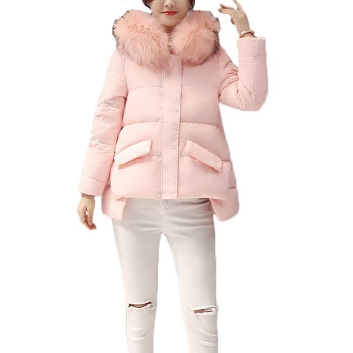 Slim Vêtement De Femme Fausse Rouge Luxe Vêtements Col Fourrure Epaississant Doudoune Marque En FJ1clK