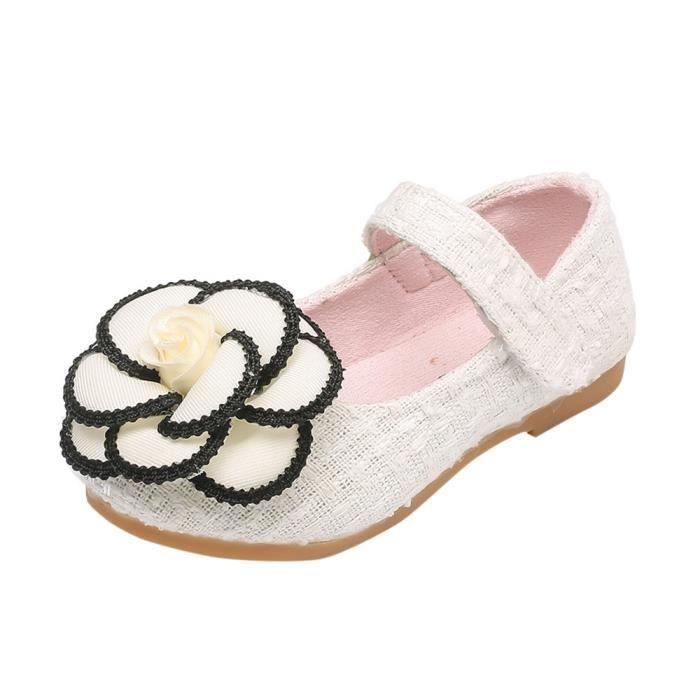 BOTTE Toddler enfants filles bébé camélia fleur mode princesse sandales simples chaussures@BlancHM