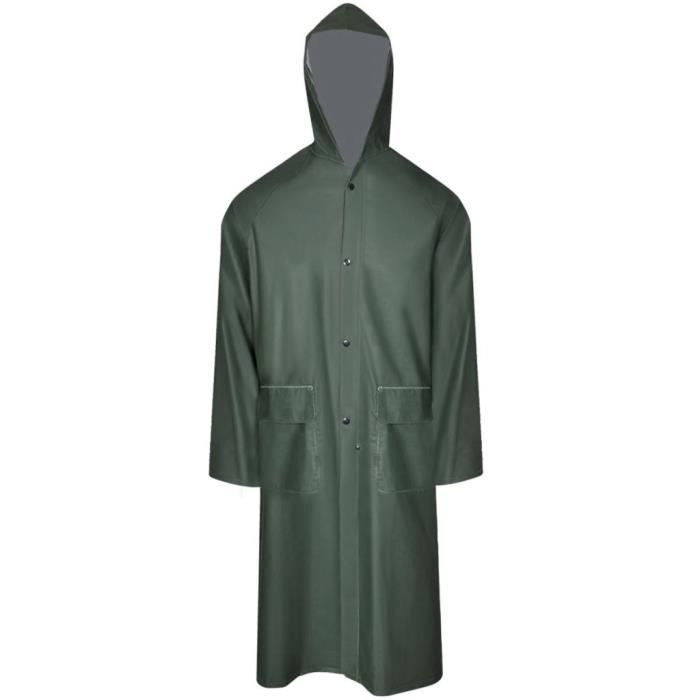 SAC À MAIN Imperméable robuste avec capuchon Vert Taille XL