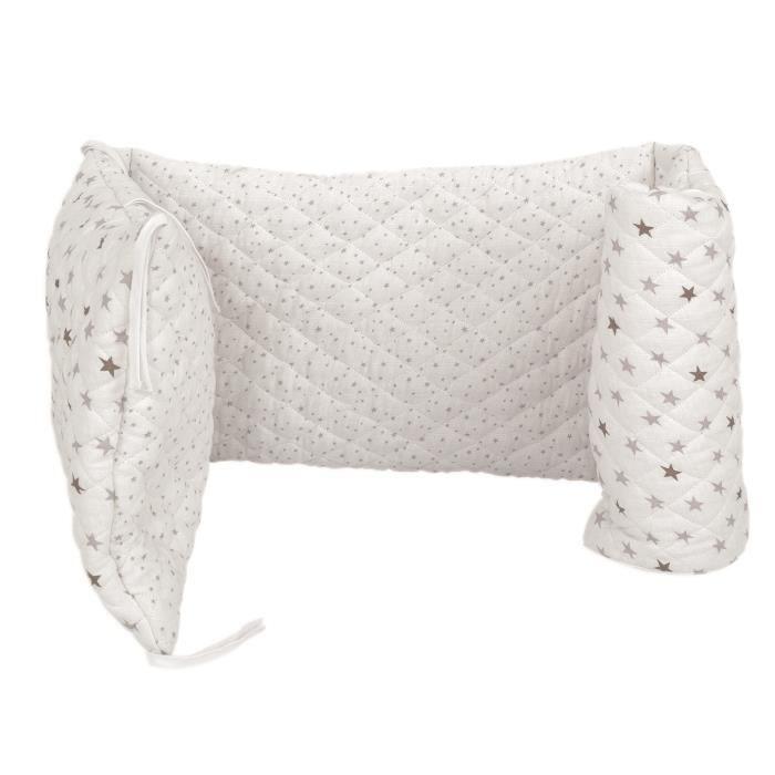 trois kilos sept tour de lit - 1 coton - etoiles - achat / vente