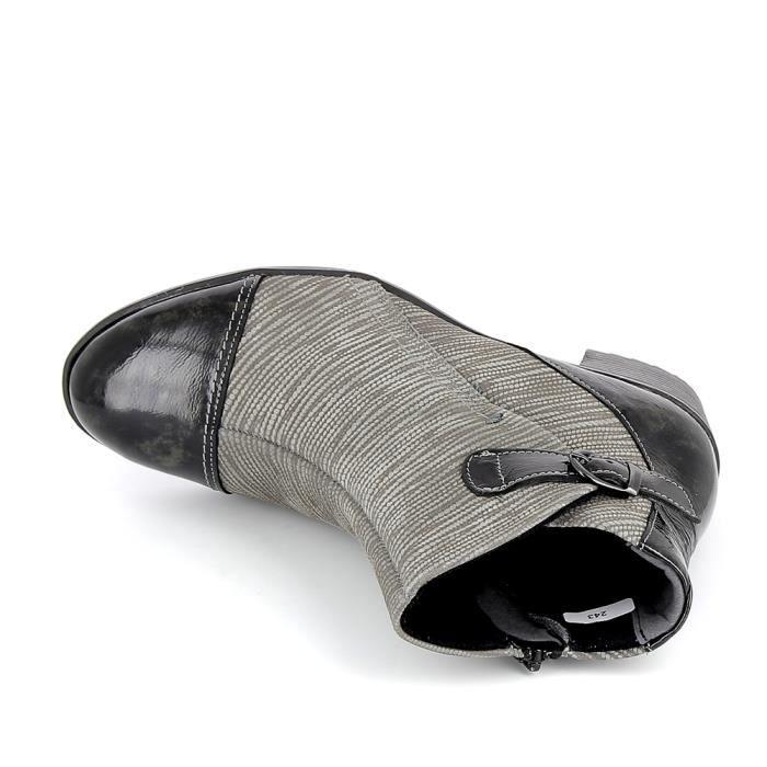 Chaussure de ville BOISSY Bottine 9919 Gris Marron