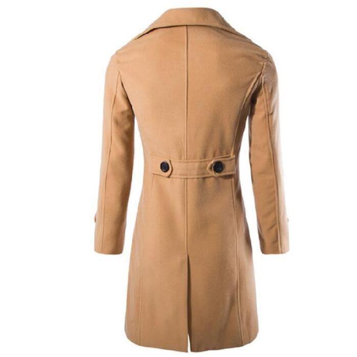 Noir Homme Britannique Masculin Épaississant La Mode kaki Luxe Vêtement Parka Uni Style A Marque 7xq7dU