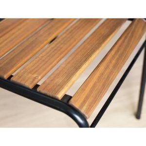 Salon de jardin bois Delamaison - Achat / Vente Salon de jardin bois ...