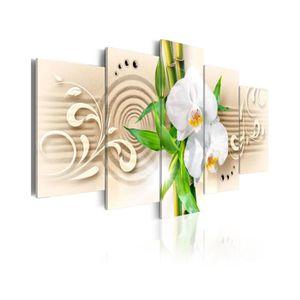 TABLEAU - TOILE Tableau Orchids, Babmbus And Zen - Dimension - 100