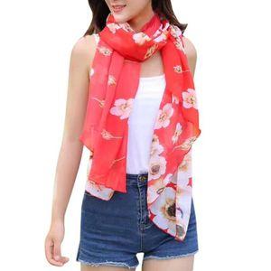 ECHARPE - FOULARD exquisgift®Femmes foulards mousseline de soie vête c515f996734
