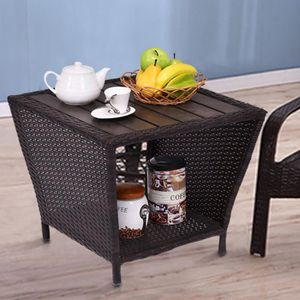 TABLE D'APPOINT Table d'appoint Table polyrattan thé Table de jard