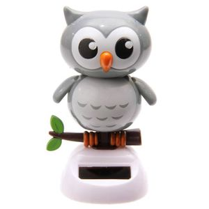 Solar-animal bouge-animal bouge-Hibou solaire-Hibou bouge-personnage bouge-Deco auto-DECO