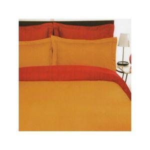 HOUSSE DE COUETTE Housse de couette satin 140x200 Orange - Rouge