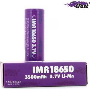BATTERIE E-CIGARETTE Accu IMR 20A 18650 3500 mAh Efest Purple
