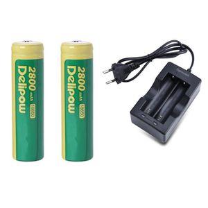 BATTERIE E-CIGARETTE 2x Piles rechargeables batterie 18650 capacité 280