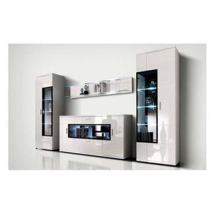 Meuble Buffet Salon Design ensemble meubles de salon design corano c - avec led - achat / vente