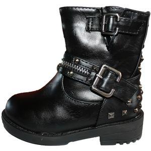 BOTTINE belle bottines noire fille cloutées