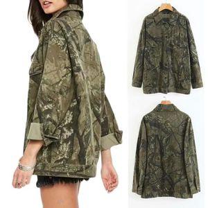 GILET - CARDIGAN Les femmes hiver chaud manteau épais camouflage Co 8ba244ed50bc
