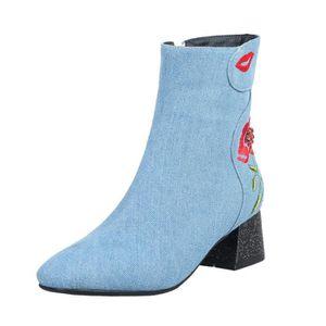 BOTTINE Chaussures Femmes talon haut à glissière latérale