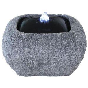 FONTAINE DE JARDIN Velda Fontaine en pierre avec lumière LED Carré 85