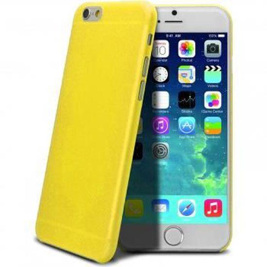 coque iphone 6 jaune mat
