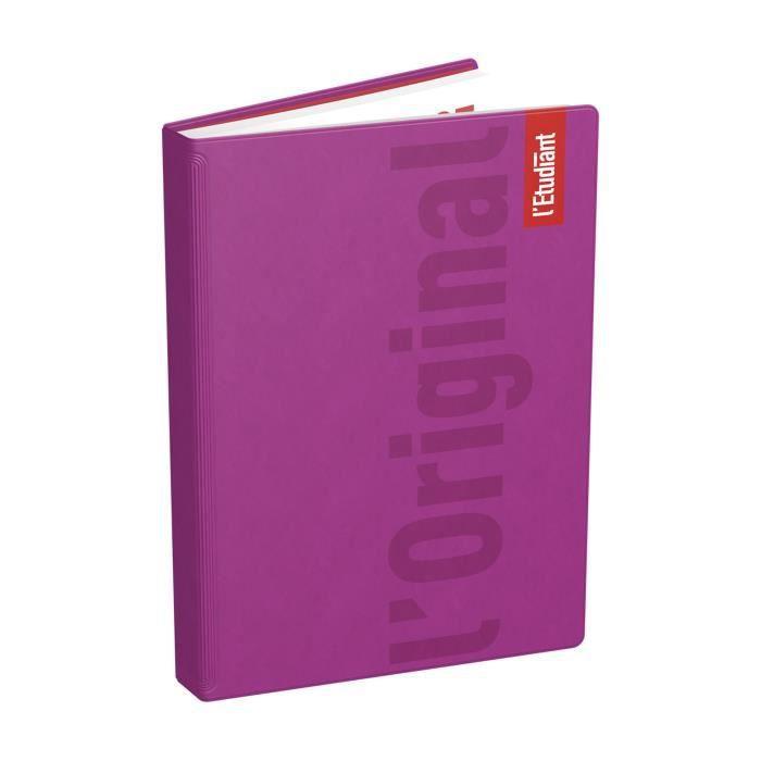 ETUDIANT Agenda 400118750 - 15 x 21 cm - 1 jour par page - Couverture Ouatinée - 352 P - Couleur Rose