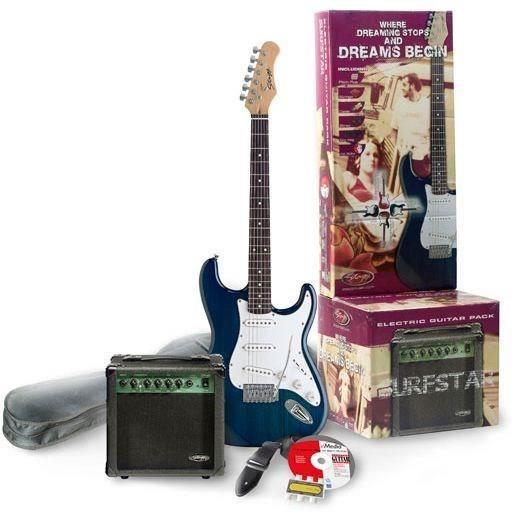 STAGG ESURF 250 TB EU Pack Guitare Electrique - Bleu
