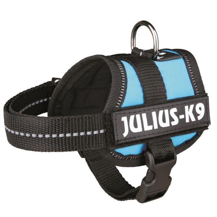 Harnais Power Julius-K9 - Baby 1 - XS : 30-40 cm-18 mm - Aigue-marine - Pour chien