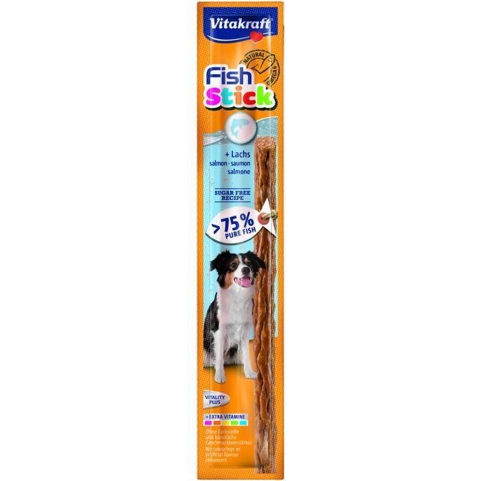VITAKRAFT Stick au saumon P/1 - Pour chien - 15 g