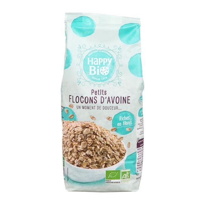 HAPPY BIO Petit flocons d'avoine bio - 500 g
