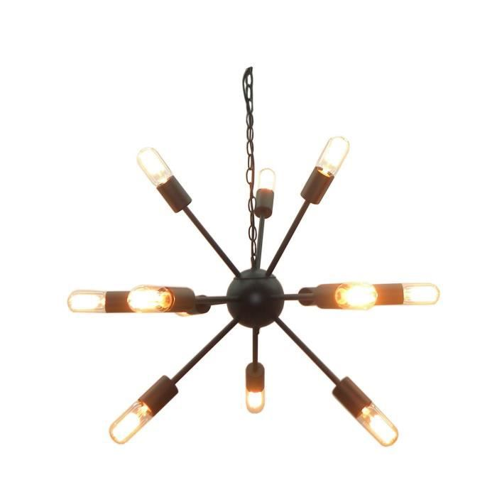 suspension en fer etoile diam 52 cm noir achat vente suspension en fer etoile. Black Bedroom Furniture Sets. Home Design Ideas