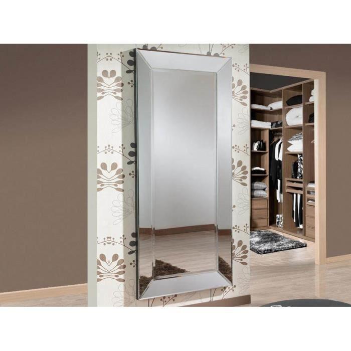 Grand miroir design mod le roma achat vente miroir bois mdf verre soldes d s le 27 for Grand miroir moderne