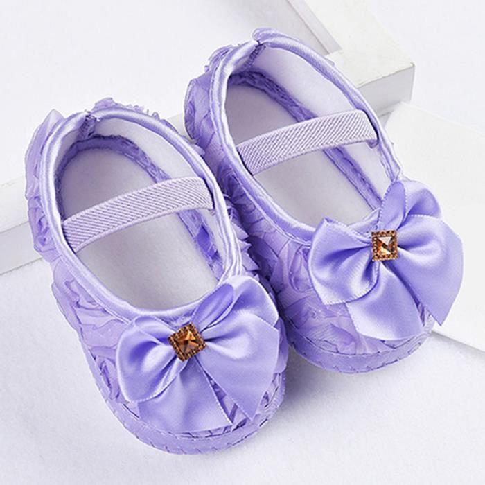 Bodhi@ bébé Bambin mocassin nourrisson nouveau-né fille garçons chaussures doux Prewalker 6-12 mois Voilet vMJSZa1PrW