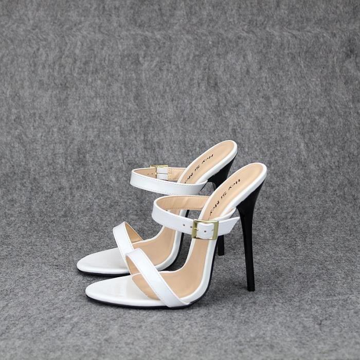 2d99b64a0 13cm sexy fétichiste Talons Slingback Sandales Parti Chaussures pour dames  Extreme Talons Mode Femmes Chaussures ouvertes Toe Pumps
