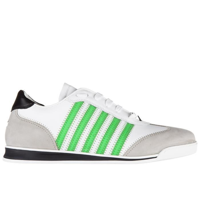 Chaussures baskets sneakers homme en cuir new runner Dsquared2