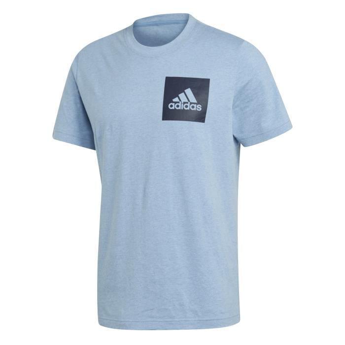 e3dc70d6dd9e5 T-shirt adidas Essentials Box Logo Bleu marine/bleu marine - Achat ...