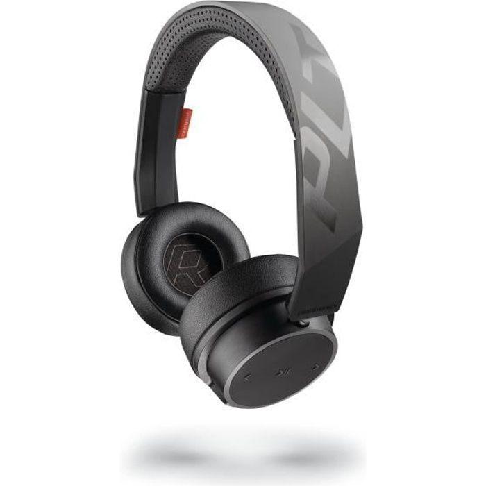 Plantronics Backbeat Fit 505 Casque Bluetooth Sport Noirgris