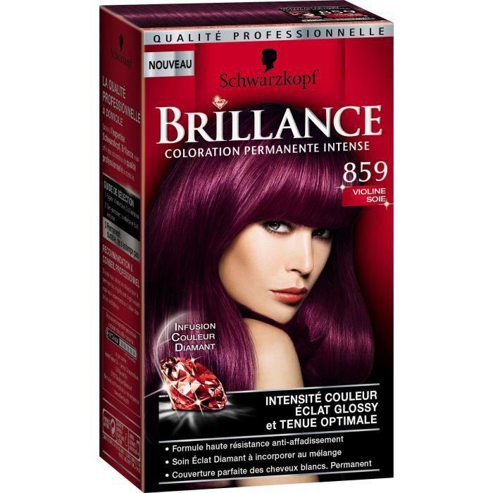 Coloration prune cheveux