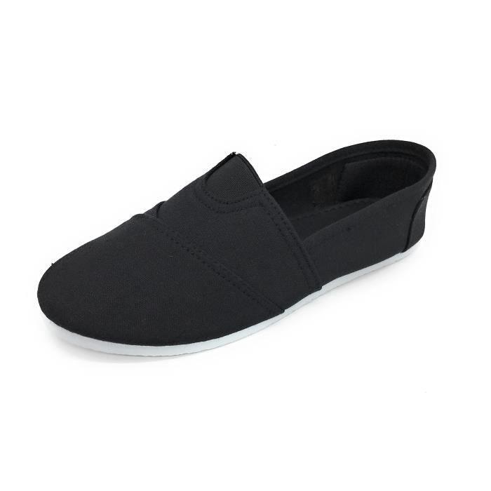 Easy21 Toile ronde Slip Toe On Flat Sneaker Fashion SBUN2 Taille-37 RjW4XOMILC