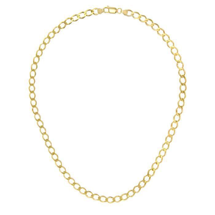 Revoni - Collier courbé en or jaune 9 carats 23,9 g, longueur 71 cm et largeur 6,2 mm