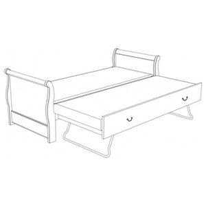 pied de lit louis achat vente pied de lit louis pas cher cdiscount. Black Bedroom Furniture Sets. Home Design Ideas
