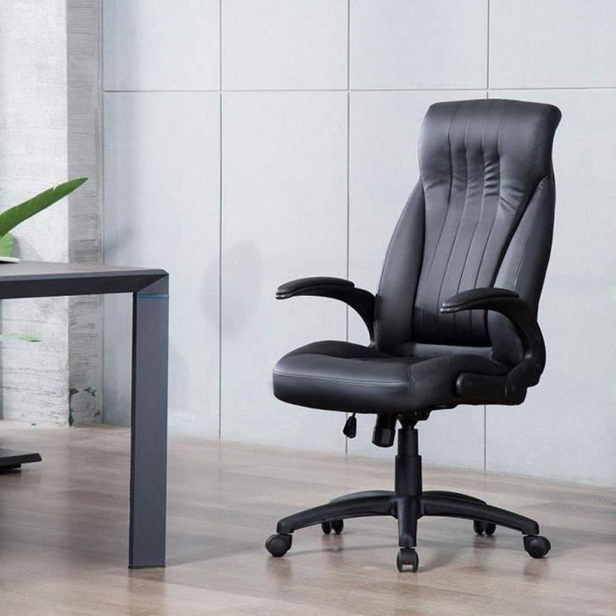 Fauteuil Simili Bureau Cuir De Siège Iwmh Office Confortable Ergonomique Chaise Exécutif Noir lJKTF1c
