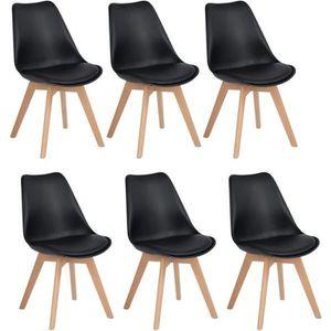 CHAISE DE BUREAU JKK Lot de 6 Chaises design contemporain nordique