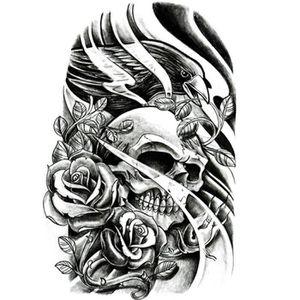 Tatouage Temporaire Tete De Mort Achat Vente Pas Cher
