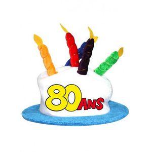 CHAPEAU - PERRUQUE Chapeau gâteau anniversaire 80 ans