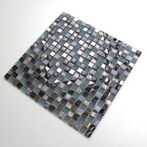 CARRELAGE - PAREMENT Mosaique en verre et pierre carrelage sol douche