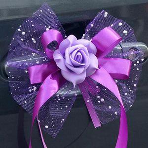 FLEUR ARTIFICIELLE Bouquet de fleurs bricolage décoration de voiture