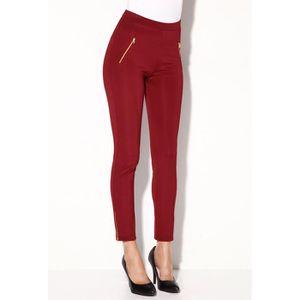 Pantalon femme rouge - Achat   Vente pas cher - Cdiscount 0b429a9c6fa